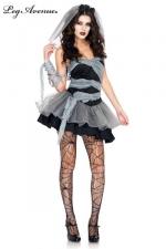 Costume Mariée mort-vivante : Soirée costumée pour Halloween ? Restez sexy avec ce costume de Mariée mort-vivante.