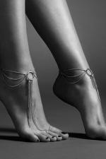 Chaines argentées pour les pieds : Chainettes de pieds en métal argenté pour mettre en valeur vos chevilles et le dessus des pieds, collection Magnifique de Bijoux Indiscrets.