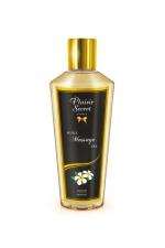 Huile sèche monoï : Huile de massage sèche au doux parfum de monoï pour des massages aussi relaxants que bons pour le corps.