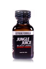 Poppers jungle juice black label 24ml : Le poppers Jungle Juice black original dans une nouvelle formule extrême, extra forte, à base de nitrite d'amyle.