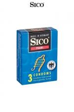 3 préservatifs Sico PEARL : 3 préservatifs haute qualité avec texture perlée pour une stimulation sexuelle maximale de votre partenaire.