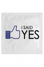 Préservatif humour - I Said Yes : Préservatif  I Said Yes, un préservatif personnalisé humoristique de qualité, fabriqué en France, marque Callvin.